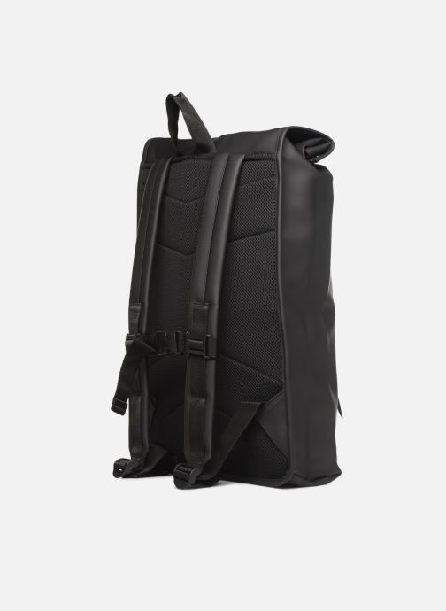 Rucksacks Rains  Roll Top Rucksack Black view from the right