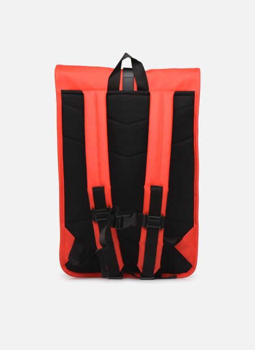Sacs à dos Rains  Roll Top Rucksack Rouge vue face