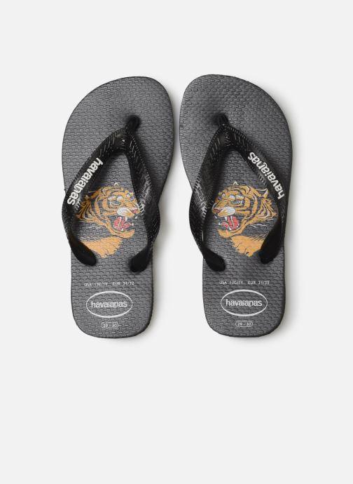 Tongs Havaianas Top Wild Noir vue portées chaussures