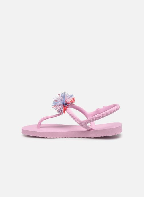 Tongs Havaianas Kids Freedom SL Pompom Rose vue face