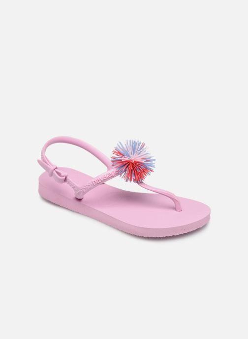 Flip flops & klipklapper Havaianas Kids Freedom SL Pompom Pink detaljeret billede af skoene