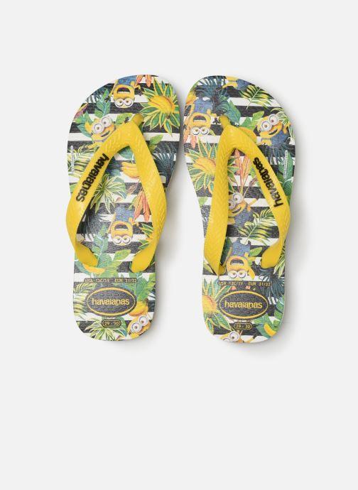 Tongs Havaianas Minions Jaune vue portées chaussures