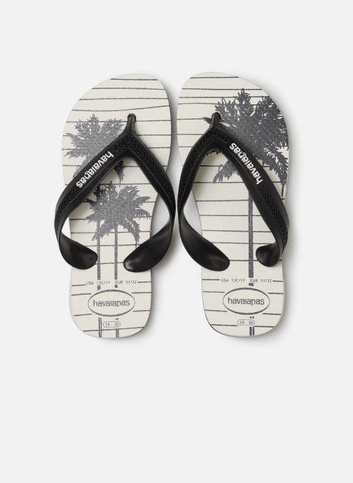 Tongs Havaianas Kids Max Trend Blanc vue portées chaussures