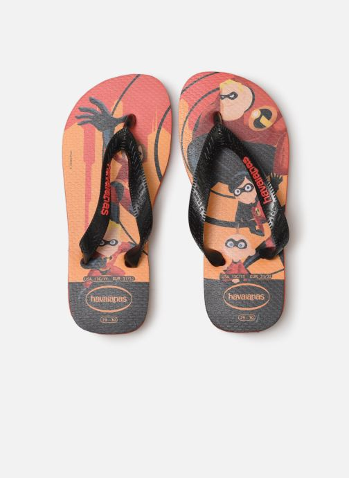 Tongs Havaianas Kids Os Incriveis 2 Rouge vue portées chaussures