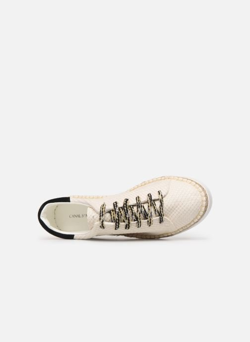 Trainers Canal St Martin LANCRY PE19 Beige view from the left
