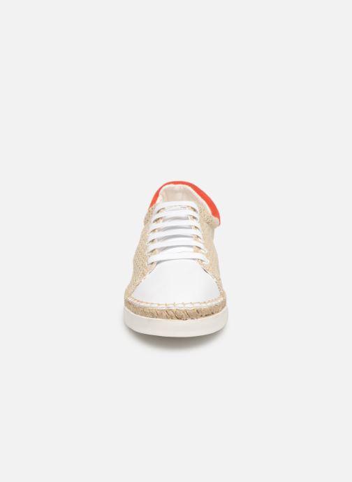 Baskets Canal St Martin LANCRY BEACH Beige vue portées chaussures
