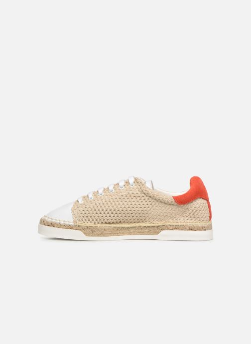 Trainers Canal St Martin LANCRY BEACH Beige front view