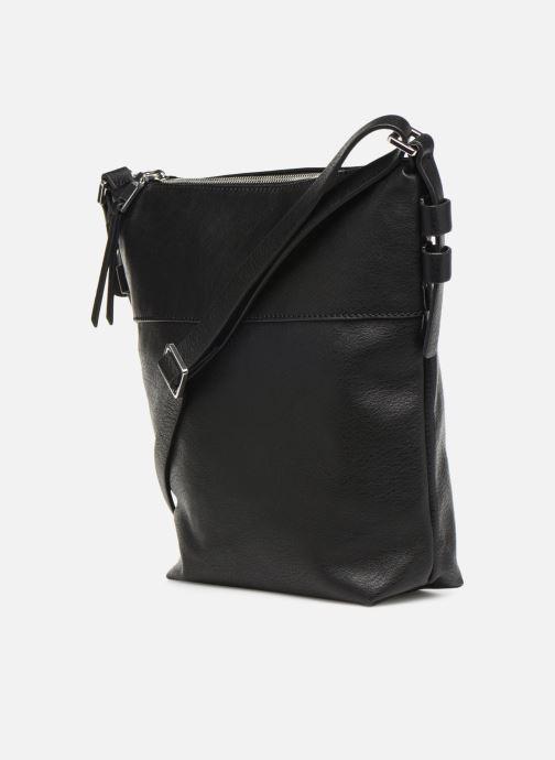 Handtaschen Esprit Mara Crossbody schwarz ansicht von rechts