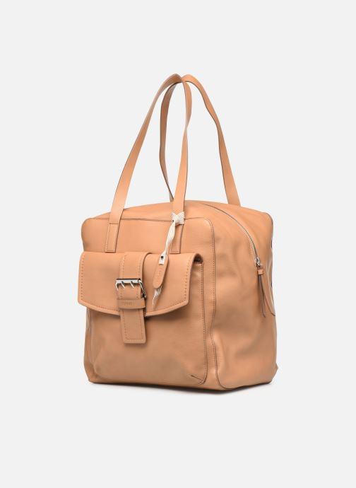 Handtaschen Esprit Marcie Shopper braun schuhe getragen