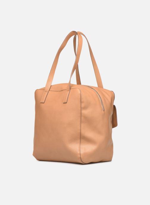 Handtaschen Esprit Marcie Shopper braun ansicht von rechts