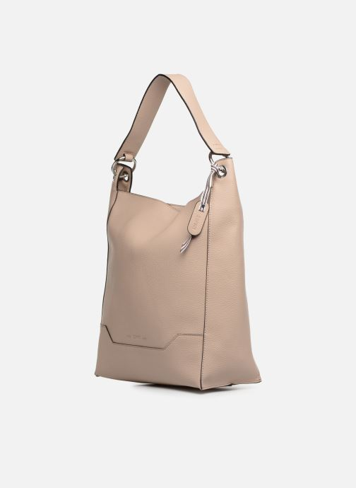 Handtaschen Esprit Mila Hobo beige schuhe getragen