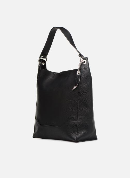 Handtaschen Esprit Mila Hobo schwarz schuhe getragen