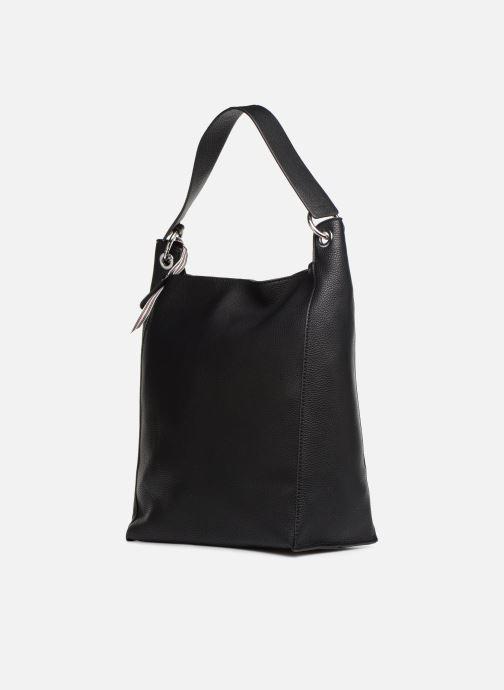 Handtaschen Esprit Mila Hobo schwarz ansicht von rechts