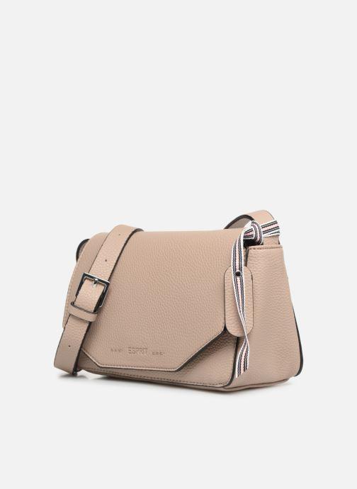 Sacs à main Esprit Mila Shoulder Bag Beige vue portées chaussures