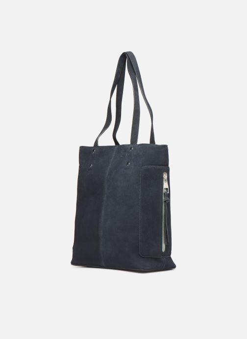 Handtassen Esprit Pia Cuir Shopper Blauw model