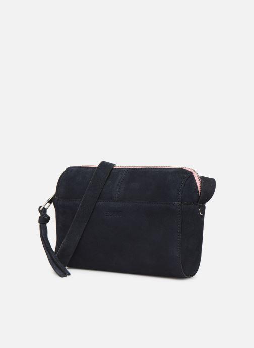 Bolsos de mano Esprit Pia Cuir Small Shoulder Bag Azul vista del modelo