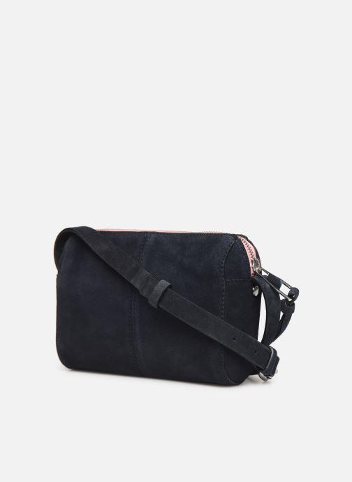 Bolsos de mano Esprit Pia Cuir Small Shoulder Bag Azul vista lateral derecha