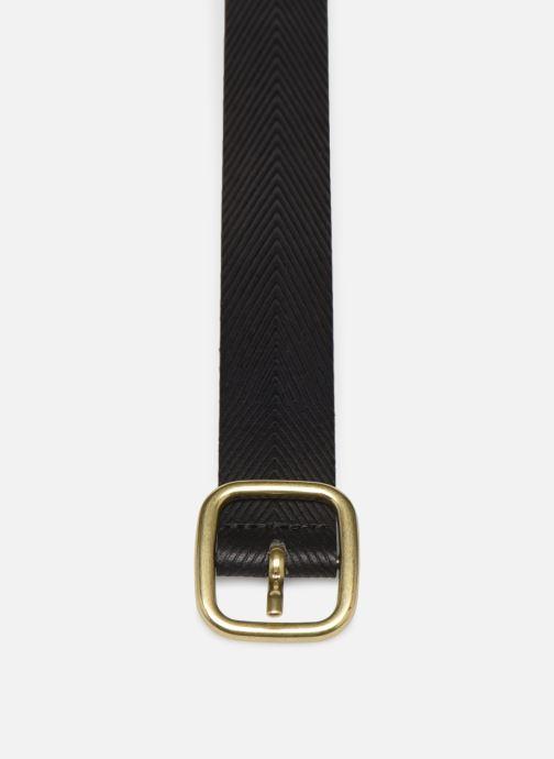 Cinturones Esprit Herringbone Belt Negro vista del modelo