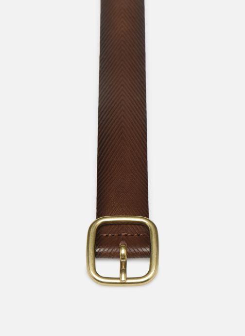 Cinture Esprit Herringbone Belt Marrone modello indossato