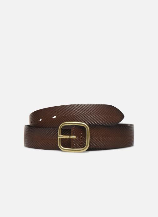 Riemen Esprit Herringbone Belt Bruin detail