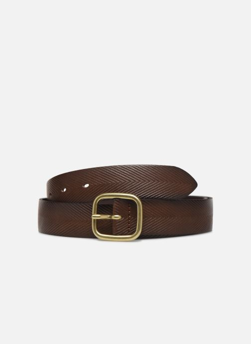 Belts Esprit Herringbone Belt Brown detailed view/ Pair view