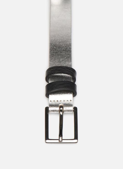 Gürtel Esprit Metallic Belt silber schuhe getragen