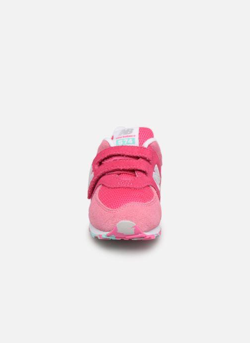 Sneaker New Balance IV574 rosa schuhe getragen