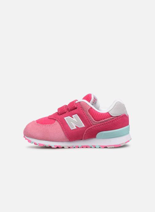 Sneaker New Balance IV574 rosa ansicht von vorne