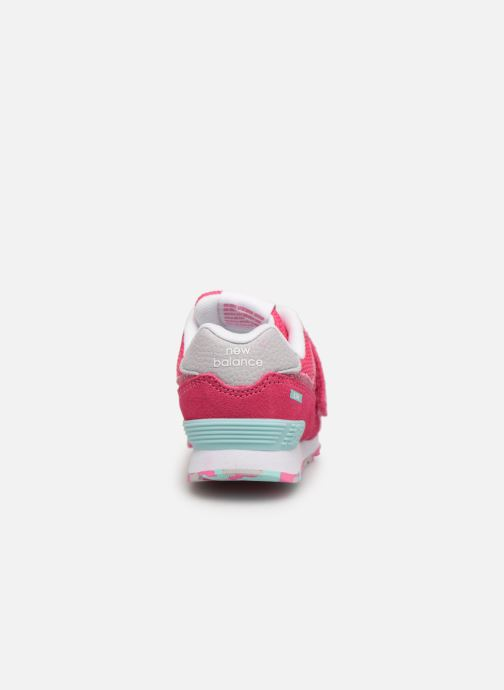 Sneaker New Balance IV574 rosa ansicht von rechts