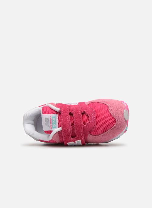 Sneaker New Balance IV574 rosa ansicht von links