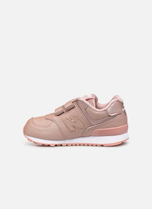 Baskets New Balance IV574 Rose vue face