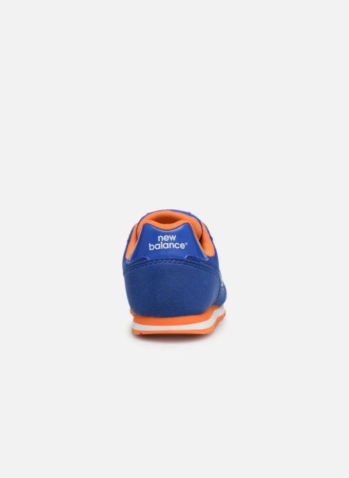 Baskets New Balance YC373 Bleu vue droite