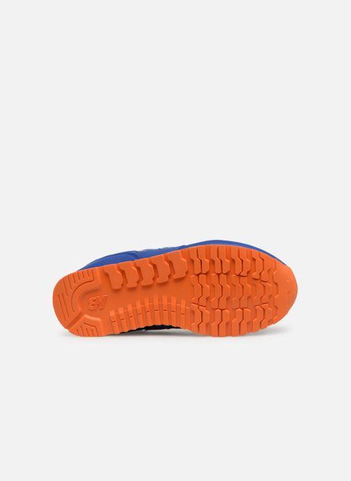 Baskets New Balance YC373 Bleu vue haut