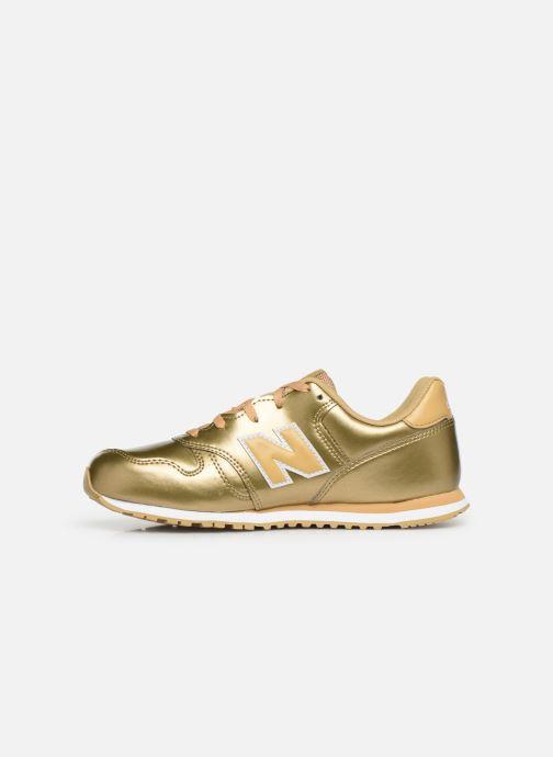 Sneakers New Balance YC373 Goud en brons voorkant