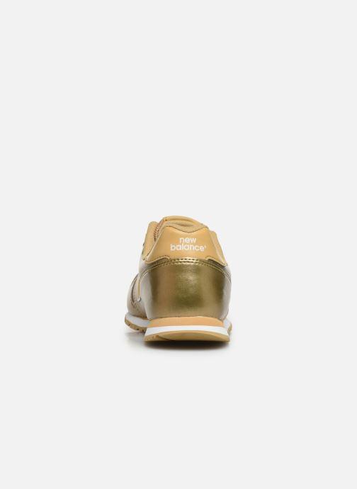Sneaker New Balance YC373 gold/bronze ansicht von rechts