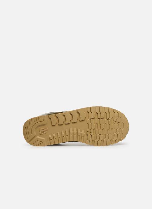 Baskets New Balance YC373 Or et bronze vue haut