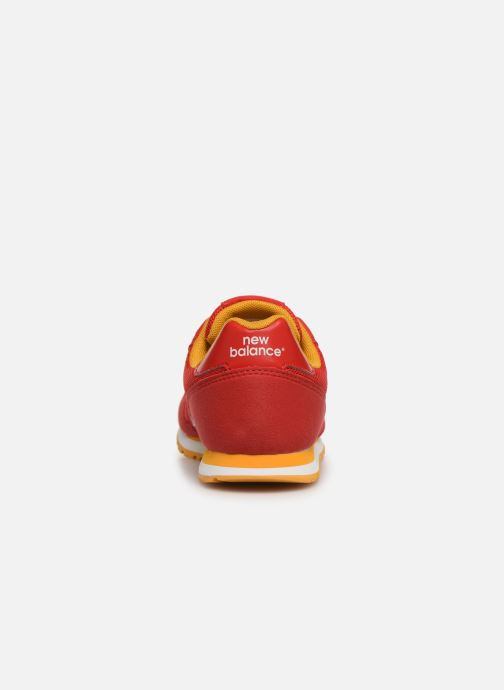 Trainers New Balance YC373 Red view from the right