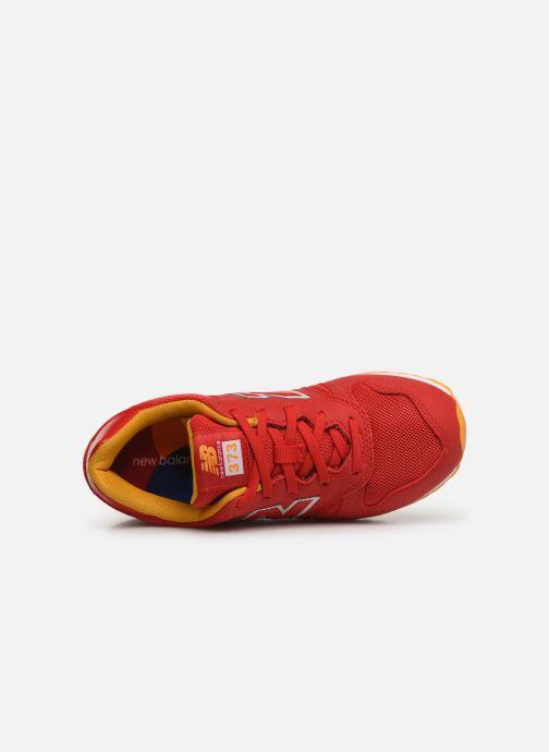 Baskets New Balance YC373 Rouge vue gauche