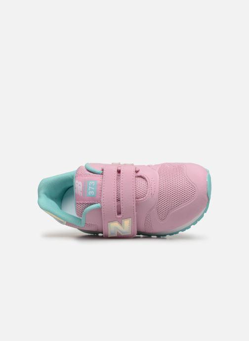 Sneaker New Balance Kz373 rosa ansicht von links