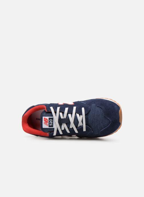 Sneaker New Balance YC520 blau ansicht von links
