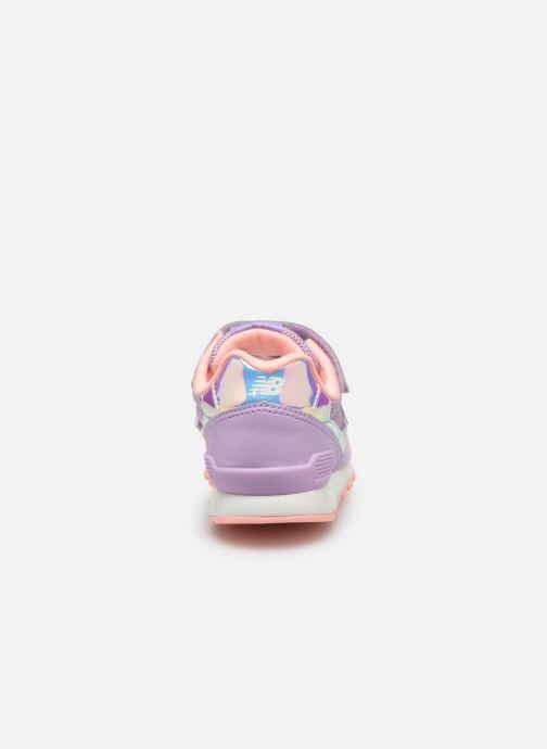 Sneaker New Balance YV996 rosa ansicht von rechts