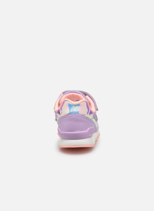 Baskets New Balance YV996 Rose vue droite