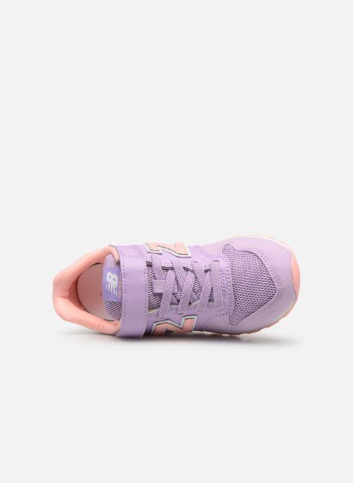 Sneaker New Balance YV996 rosa ansicht von links