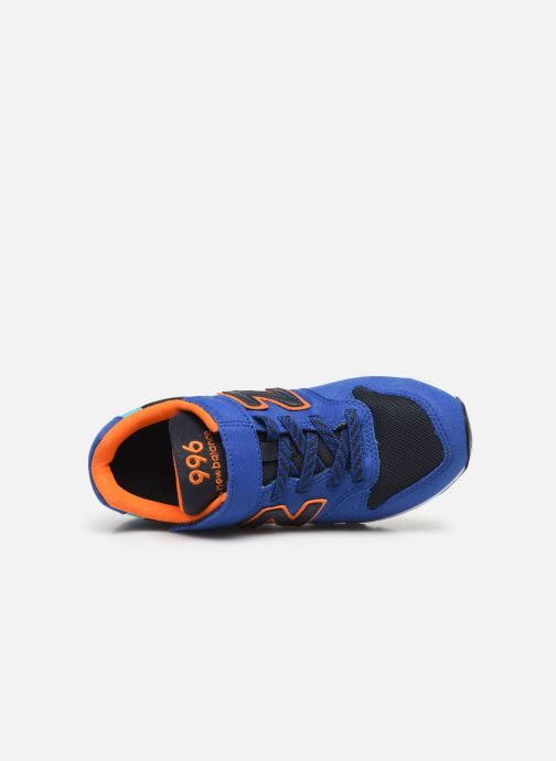 Trainers New Balance YV996 Blue view from the left