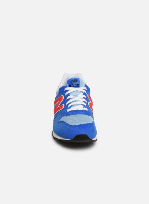 Baskets New Balance YC996 Bleu vue portées chaussures