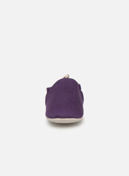 Pantofole Poco Nido Midnight Purple Viola modello indossato