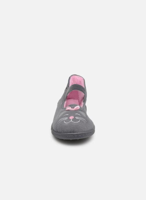Slippers Isotoner Ballerine Gris Grey model view