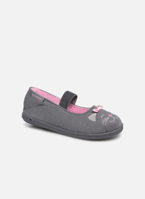 Slippers Isotoner Ballerine Gris Grey detailed view/ Pair view