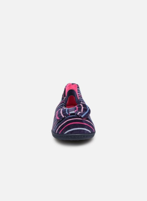 Chaussons Isotoner Ballerine Multicolor Multicolore vue portées chaussures