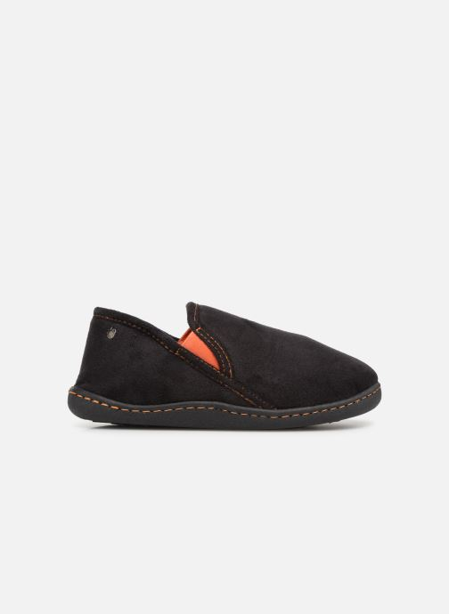 Slippers Isotoner Charentaise Suédine Black back view